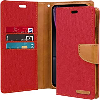 Goospery Canvas Wallet for Apple iPhone XR Case (2018) Denim Stand Flip Cover (Red) IP9-CAN-RED