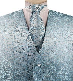 Men's Formal Microfiber Tuxedo Waistcoat with Necktie Set