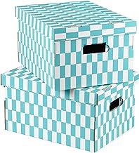 Compactor Pudełka do przechowywania z kontrolerem, 40 x 31 x 21 cm, niebieski/biały, 2 sztuki, tektura, niebieski/biały, 4...