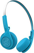 JLab Audio Rewind Wireless Retro Headphones | Bluetooth 4.2 | 12 Hours Playtime | Custom EQ3 Sound | Music Controls | Noise Isolation | with Microphone | Throwback 80s 90s Design | Blue