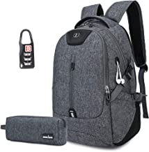 Travel Laptop Backpack, Business Anti-theft Waterproof Durable Backpacks with Headphone Hole 15.6 Inch