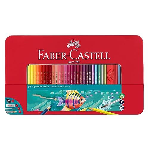 Pinsel 48 Aquarell Buntstift Aquarellfarbstifte Etui Farbstifte DREIKANT-Form m