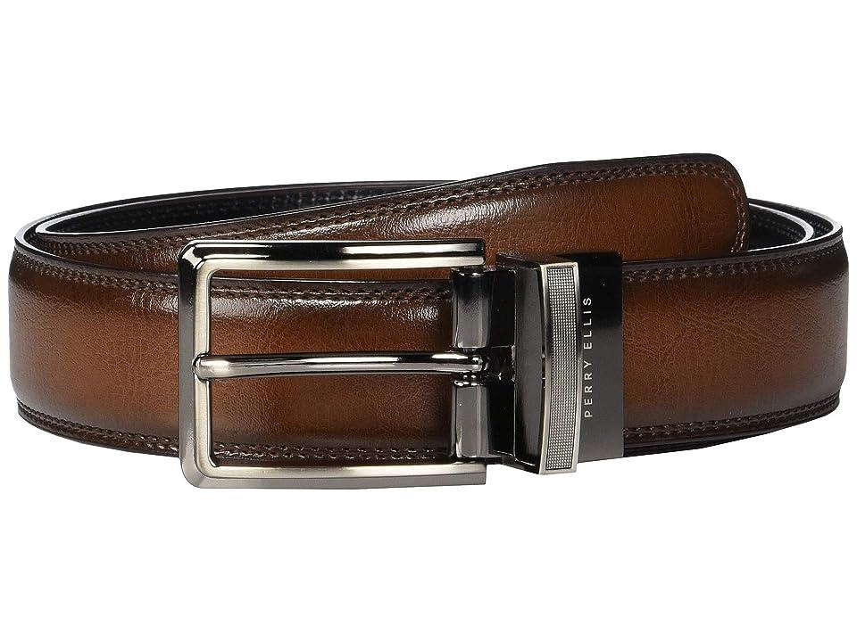Perry Ellis Portfolio - Perry Ellis Portfolio Double Stitched Edge Reversible Belt