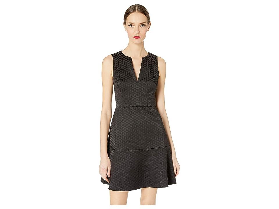Kate Spade New York Glitzy Ritzy Bakery Dot Jacquard Dress (Black) Women