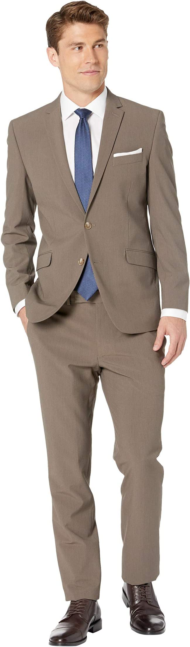Kenneth Cole Reaction Solid Slim Fit Stretch Performance Suit npiL7