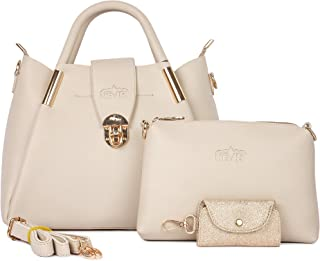 Nevis Women's Handbag, Shoulder Bag With Card Holder (Set of 3)