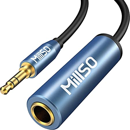 6.3mm標準ジャック 3.5mmステレオミニプラグ変換ケーブル MillSO 1/4インチto 1/8インチ ヘッドフォン変換アダプター 6.35mmメス→3.5mmオス 変換プラグ 金メッキ ヘッドホン/ミキサー/アンプ/ギター/ピアノ 対応