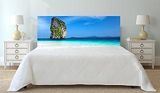 Oedim Cabecero Cama Cartón ecologico | Impresión Digital | Sin Relieve | Isla de Poda en Krabi Tailandia 150 x 60 cm | Cabecero Ligero, Elegante, Resistente y Económico