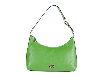 Frances Valentine Laura Tumbled Leather Hobo (Grass) Hobo Handbags
