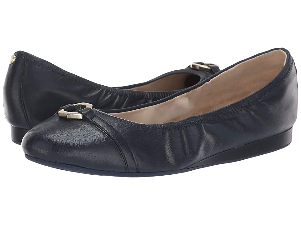 Cole Haan Reese Ballet (Marine Blue Leather) Women