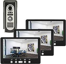 Videodeurbel, intercom, bekabelde deurkijker Deurinvoersysteem, 7 inch videodeurtelefoon voor huisbeveiliging, IR-nachtzic...