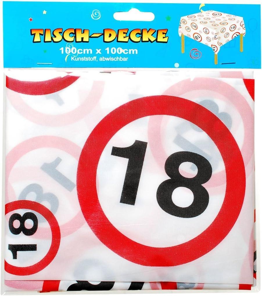 Tischdecke 18 igster Geburtstag Geburtstagsdeko ca 270 x 135 Einweg Folie