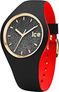 Ice-Watch - ICE Loulou Black Glitter - Women's Wristwatch with Silicon Strap - 007227 (Small)
