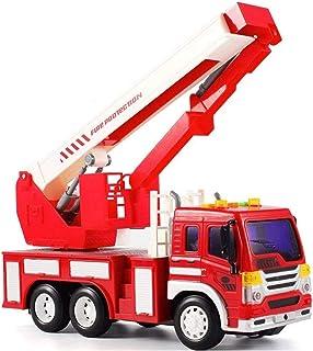 MissZZ Radio Control Rescue Voiture télécommandée Camion de Pompier Camion de Pompier RC Meilleur Jouet pour garçons et Fi...
