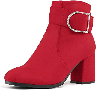 Best red chunky boots Reviews