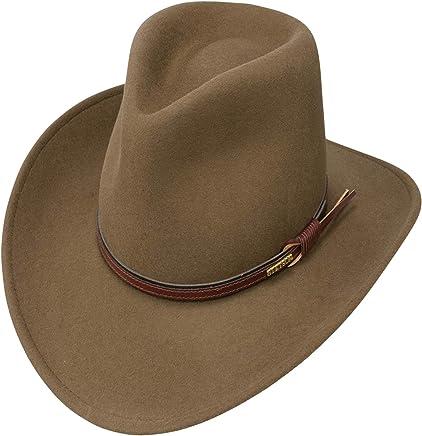 9eea2a7252f89e Stetson Men's Bozeman Wool Felt Leather Hatband Outdoor Cowboy Hat - Light  Brown