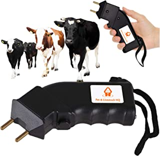 Pet Control HQ Electric Shock Cattle Prod - 4000V Livestock Stun Gun - Hand Held Battery Operated Cow Prodder - Humane Ani...