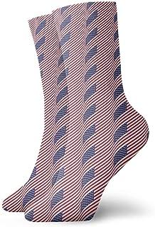 tyui7, Calcetines de compresión antideslizantes con estampado de bandera americana Calcetines deportivos de 30 cm acogedores para hombres, mujeres y niños