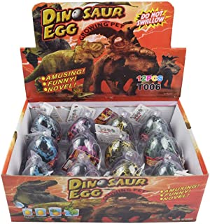 Yeelan Dino Dinosaurio Dragón de Huevos para incubar Creciente Juguete de Gran tamaño de Paquete de 12 Unidades, el Crack Negro