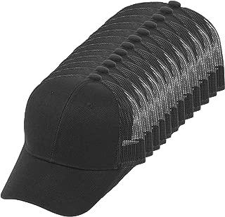 TOP HEADWEAR 12-Pack Youth Adjustable Trucker Mesh Caps