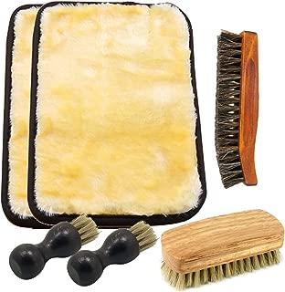 [フェリモア] 靴磨きブラシセット 馬毛 豚毛 羊毛 ペネトレィト ホコリ クリーム 塗布 磨く 艶出し