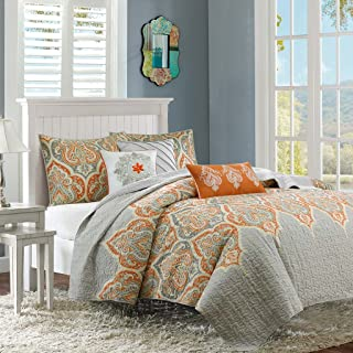 orange and yellow bedspreads