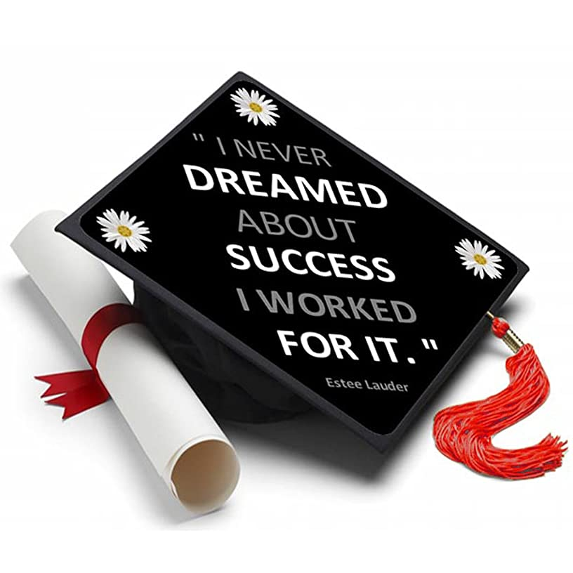 Tassel Toppers Dreamed About Success Graduation Cap Decorated Grad Caps - Decorating Kits