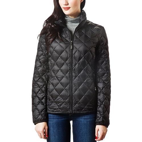 f8984baa14b7 XPOSURZONE Women Packable Down Quilted Jacket Lightweight Puffer Coat