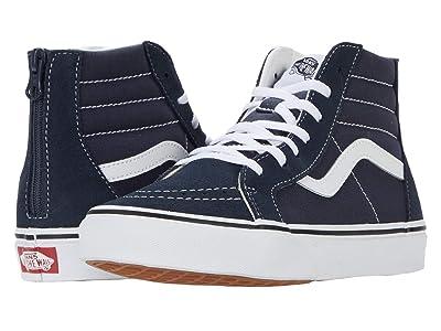 Vans Kids SK8-Hi Zip (Big Kid) (India Ink/True White) Boys Shoes