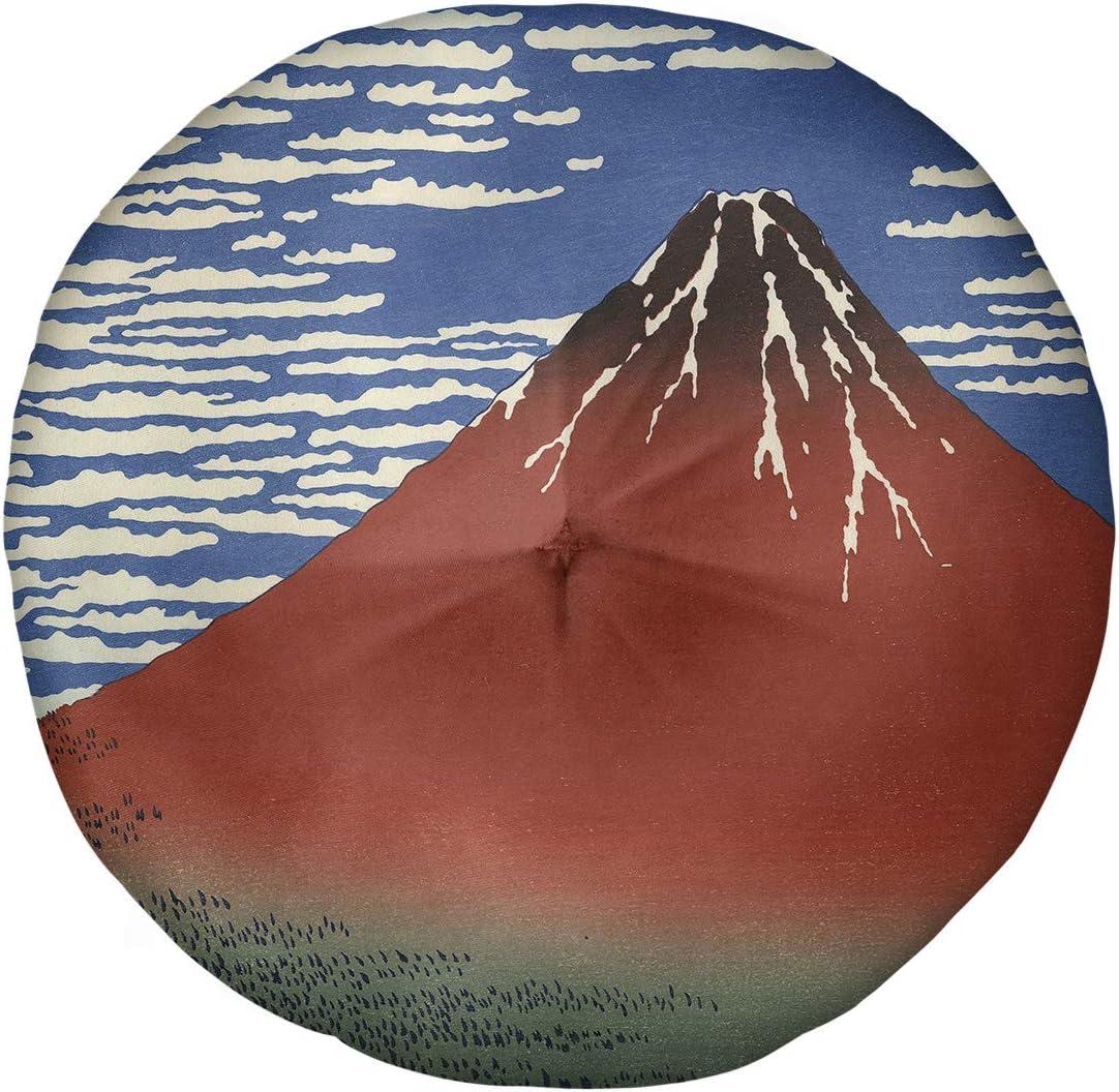 ArtVerse Superior Katsushika Hokusai Fine Wind Floor Pillow Clear Morning Luxury goods