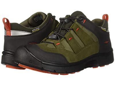 Keen Kids Hikeport WP (Little Kid/Big Kid) (Martini Olive/Pureed Pumpkin) Boy