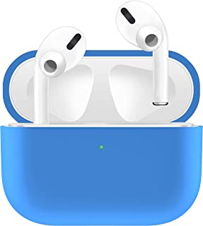 HATALKIN Case Compatible with Airpods Pro Case Premium Silicone Airpod Pro Case Protective Cover for Airpods Pro/Airpods 3 (Front LED Visible) (Won't Affect Wireless Charging) (Sky Blue)