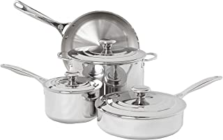 Le Creuset SSP14107 Tri-Ply Stainless Steel Cookware Set, 7 Piece