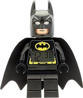 LEGO DC Comics Super Heroes Batman 9005718 Kids Minifigure Light Up Alarm Clock | Black/Yelow | Plastic | 9.5 inches Tall | LCD Display | boy Girl | Official