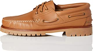 find. Amz142_Leather, Chaussures Bateau Homme