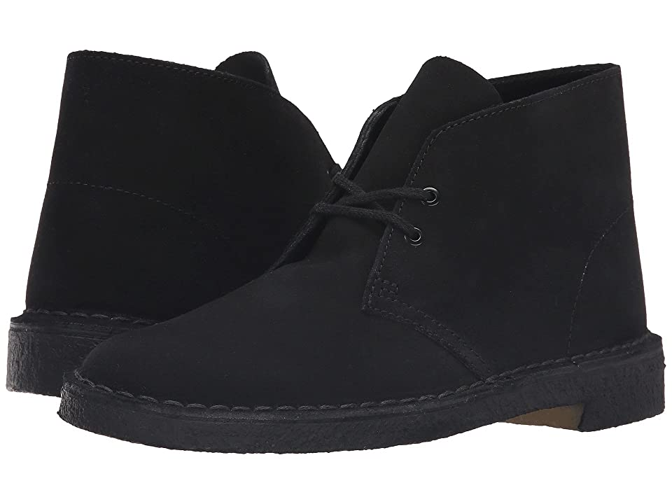 Image of Clarks Desert Boot (Black Suede) Men's Lace-up Boots