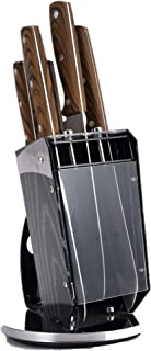 Bergner Gustorf 6pc knife set with Stand, Stainless Steel, Brown, BG9124