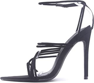 Marshmallow Sexy Stiletto High Heels for Women, Strappy...