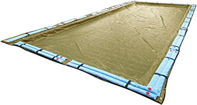 Buffalo Blizzard Supreme Plus Winter Cover for 25-Foot-by-45-Foot Rectangle In-Ground & Above-Ground Swimming Pools   Tan/Silver Reversible   5-Foot Additional Material
