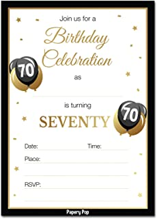 70th Birthday Invitations With Envelopes 30 Count