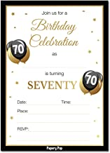70th Birthday Invitations with Envelopes (30 Count) - 70 Seventy Year Old Anniversary Party Celebration Invites Cards