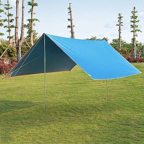 HECHEN Tente de Camping en Plein air pour Tente de Plage pluvieuse pour Plusieurs Personnes - 4 Personnes Libres de Construire Un auvent de Prougeection Solaire revêtu d'argent