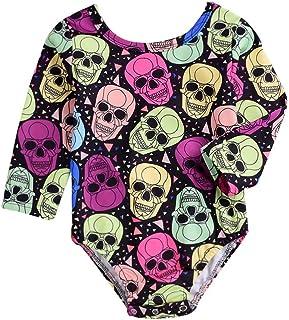 Body de Halloween, Body de Manga Larga con Estampado de Calavera de bebé recién Nacido Mameluco Mono Mameluco para niños pequeños