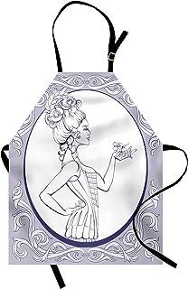 Comodo per la Cucina Unisex con Collo Regolabile per Cucinare Cuocere Arrostire e Giardinaggio ABAKUHAUS Parrucchiere Grembiule Multicolore Capelli Dresser Concetto
