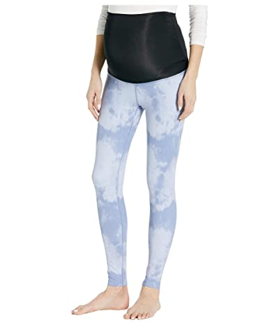 Beyond Yoga Maternity Olympus High Waisted Midi Leggings (Serene Blue Smoke) Women