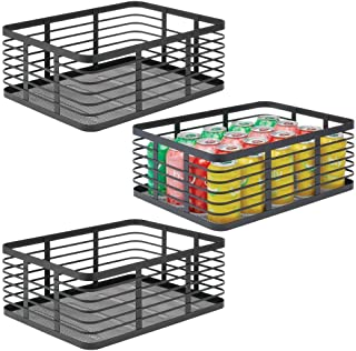 mDesign 3-częściowy kosz do przechowywania drutu - kosz druciany do przechowywania różnorodnych przedmiotów - metalowy kos...