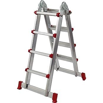 Homelux 825038 Escalera Multiuso Aluminio, 2 x 4 Peldaños, 10.5 kg: Amazon.es: Jardín