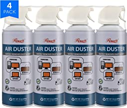Rosewill Compressed Gas Duster, 10 oz Canned Air Multipurpose Computer Keyboard Cleaner Spray (4-Pack), Ozone Safe - RCGD-18004