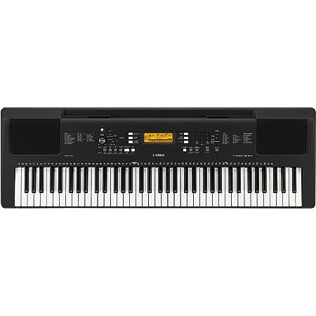 Yamaha PSR-EW300 - Teclado digital portátil de iniciación con 76 teclas, con 574 voces de instrumentos y sonido estéreo, color negro