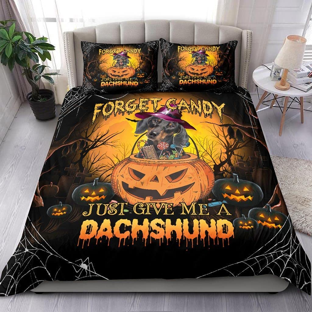 Dachshund Halloween Industry No. 1 Ranking TOP10 Queen - Gift Kids Bedding Christmas Set for